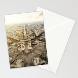 Aerial view of Arch du triomphe Stationery Cards