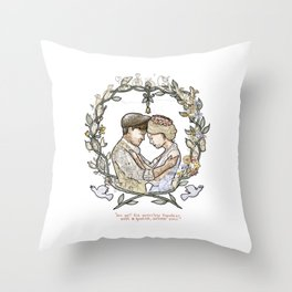 "Illustration from the video of the song by Wilder Adkins, ""When I'm Married"" (no names on it) Throw Pillow"