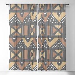 Mud cloth Mali Sheer Curtain