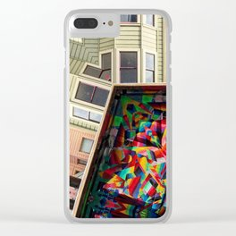 San Francisco home and mural Clear iPhone Case