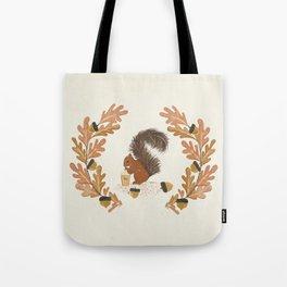 Pumpkin Spice Squirrel Tote Bag