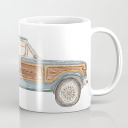 Jeep Grand Wagoneer Station Wagon Teal, Mint, Aqua Coffee Mug