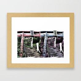 Ascend -into the warp- (Japan) Framed Art Print