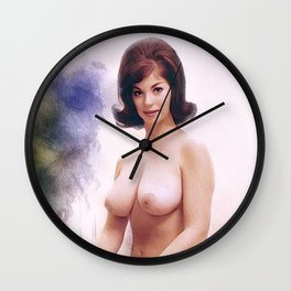 Vintage Topless Pinup Model Wall Clock