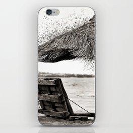 Black and white umbrella iPhone Skin
