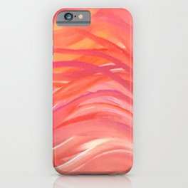 Abstract Pink Orange Purple Stripes Painting Girl Summer Colorful iPhone Case