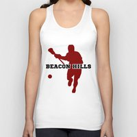 lacrosse Tank Tops featuring Beacon Hills Lacrosse by Keyweegirlie