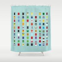 minimalism Shower Curtains featuring Minimalism SH by Fabian Gonzalez