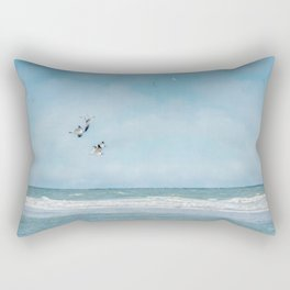 Terns in Flight, Truro Rectangular Pillow