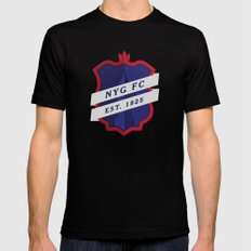 NYGFC (English) Black Mens Fitted Tee LARGE