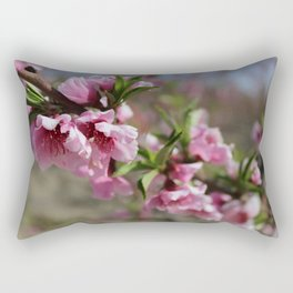 Nectarine Blossoms Rectangular Pillow