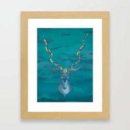 Blue Antelope Framed Art Print