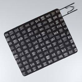 Lines on Lines // white Picnic Blanket