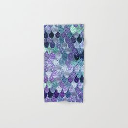 SUMMER MERMAID  Purple & Mint by Monika Strigel Hand & Bath Towel
