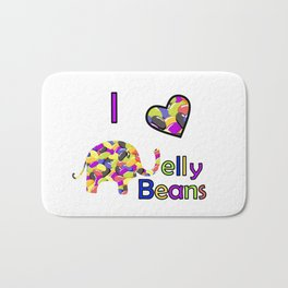 I Love Jelly Beans Bath Mat