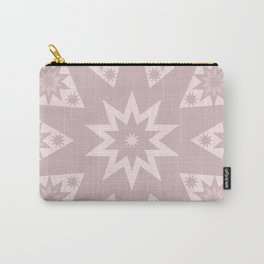 Rose Pink Star Carry-All Pouch