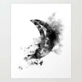 Touched By The Moon Art Print