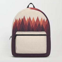 The Forest - Abstract Triangles Geometric Minimal Clean, wildlife t shirt Backpack