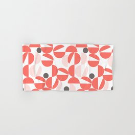 Living Coral Abstract Hand & Bath Towel