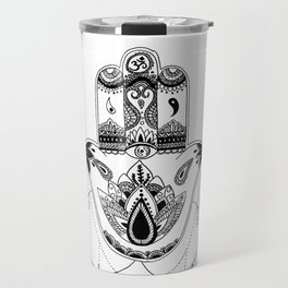 Black&White Hamsa Travel Mug