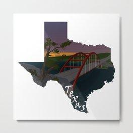 Texas: Pennybacker Bridge Metal Print