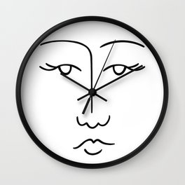 Lady Face 1 Wall Clock