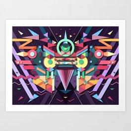 BirdMask Visuals - Falcon Art Print