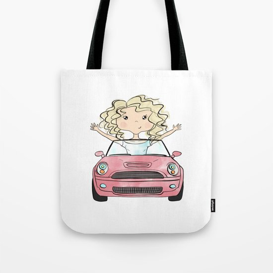 Girl Driving A Car by graphicillustration
