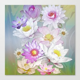 The Lotus Pond Canvas Print
