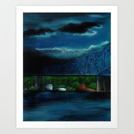 Spring Cass Street Bridge 1 of 4 Art Print