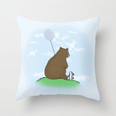 Cloudy the Bear Throw Pillow