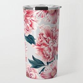 Pattern pink vintage peonies Travel Mug