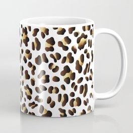 Black & Gold Leopard Spots Coffee Mug