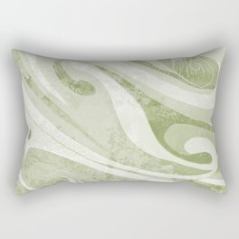 Abstract Green Waves Design Rectangular Pillow