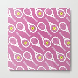 Tennis Pattern (Pink) Metal Print