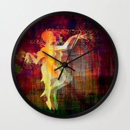 Alice Dancing Darkly Wall Clock