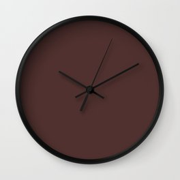 BITTER CHOCOLATE dark solid color  Wall Clock