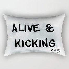 Alive and Kicking (achro) Rectangular Pillow