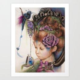 Tea&PeriWinkle Art Print