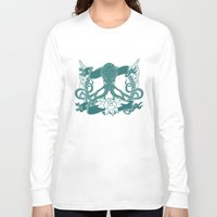 kraken Long Sleeve T-shirts featuring KRAKEN by Norm Morales Originals