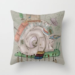 One man's trash - Snailer Park Throw Pillow