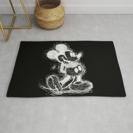 Mickey Mouse inverted Scribble Rug