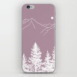 Mountains and Forest at Dusk iPhone Skin