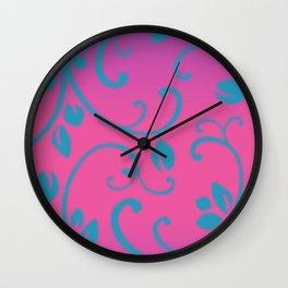 Thyroid Disease Awareness: Floral Wall Clock