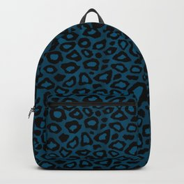 Teal Leopard Animal Pattern Backpack