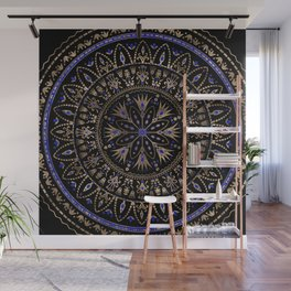 Floral Egyptian Ornament Lapis Lazuli and gold Wall Mural