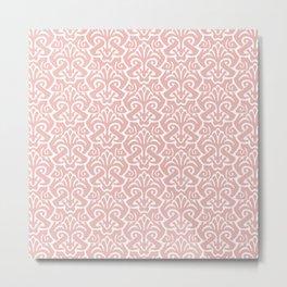 Art Nouveau Pattern Dusty Rose Metal Print
