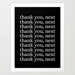 thank you, next Kunstdrucke