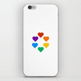 Gay Pride Rainbow Hearts iPhone Skin