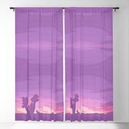 Lavender Joshua Sunset - Pop_Art Blackout Curtain